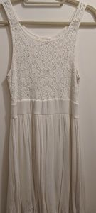 White Lace Top Dress